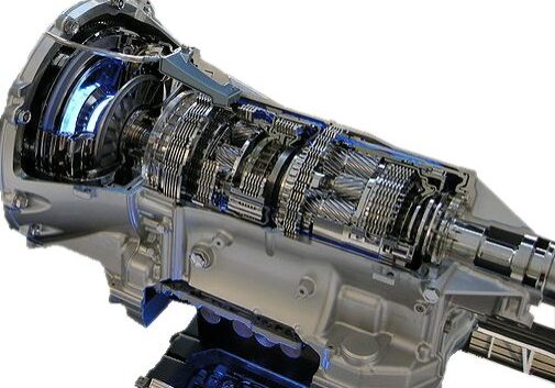 Cut away view of inside of automatic transmission protected with vci corrosion prevention oil