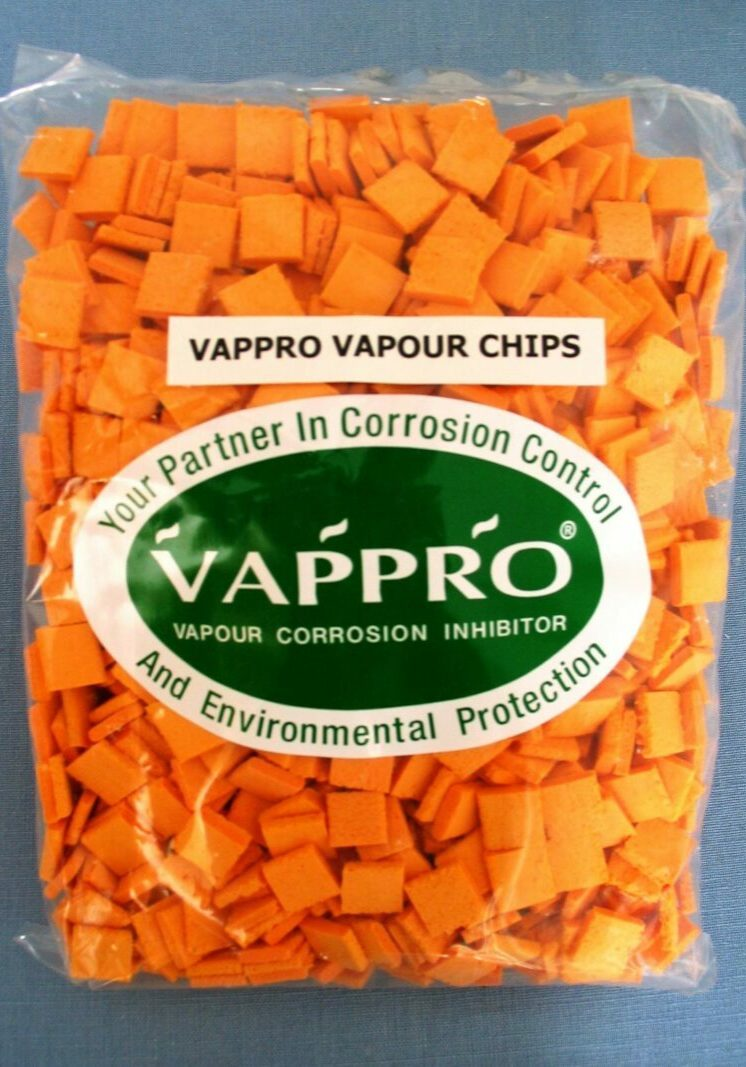 A bag of orange Vappro Chips