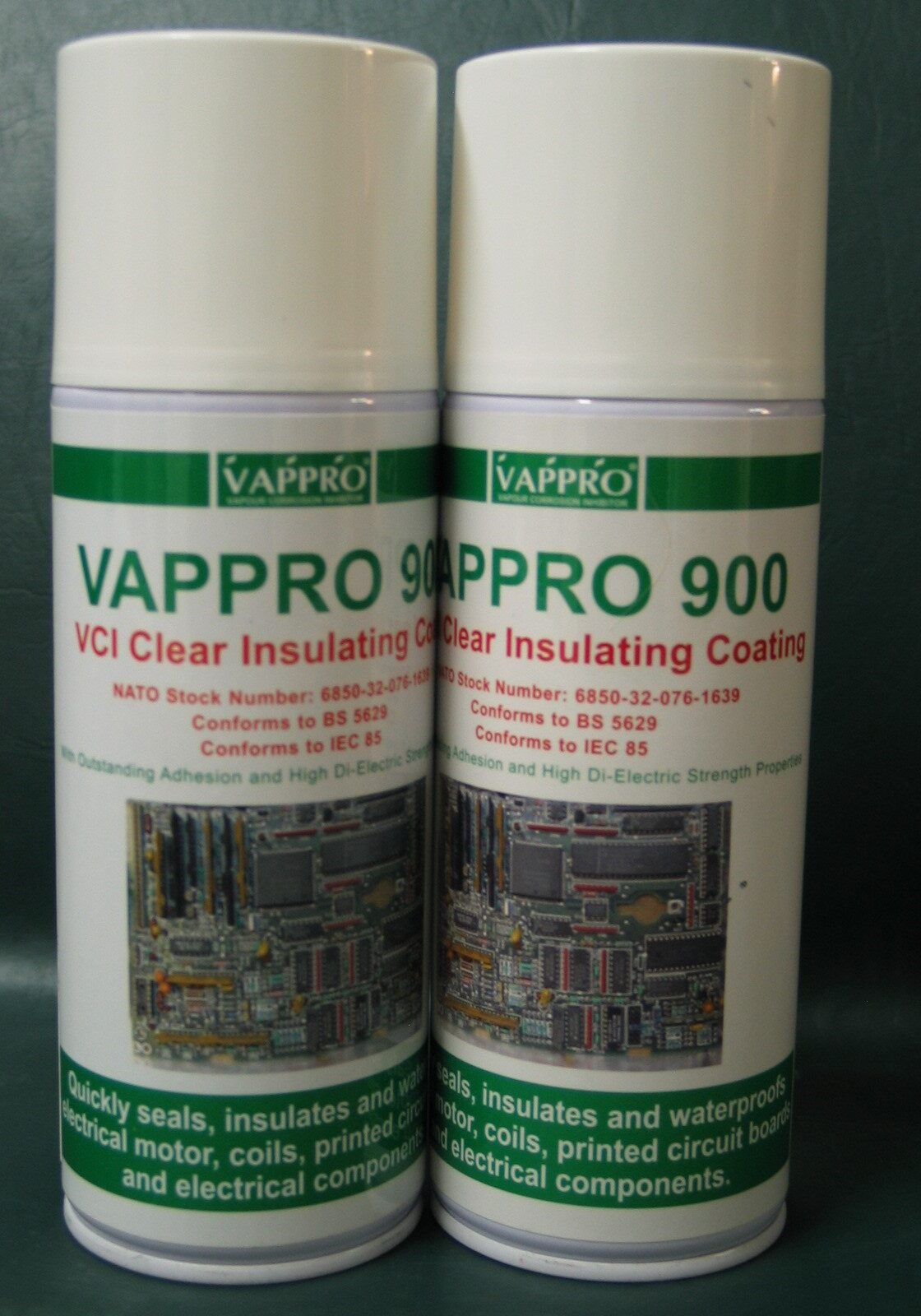 2 Cans Vappro 900 VCI insulating coating in aerosol can